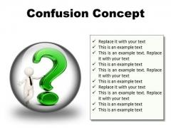 Confusion Concept Symbol PowerPoint Presentation Slides C