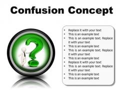 Confusion Concept Symbol PowerPoint Presentation Slides Cc
