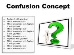 Confusion Concept Symbol PowerPoint Presentation Slides F