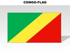 Congo Country PowerPoint Flags