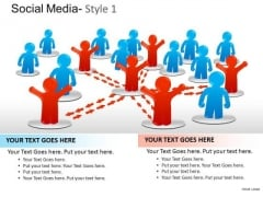 Connect Social Media Network PowerPoint Slides And Ppt Templates