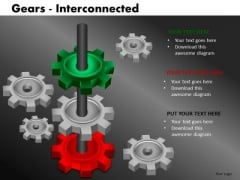 Connected Business Gears PowerPoint Ppt Templates