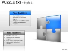 Connection Puzzle 2x2 1 PowerPoint Slides And Ppt Diagram Templates