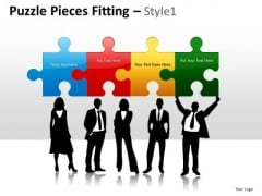 Connection Puzzle Pieces Fitting 1 PowerPoint Slides And Ppt Diagram Templates