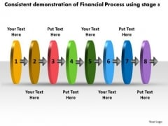 Consistent Demonstration Of Financial Process Using Stage 8 What Are Business PowerPoint Templates
