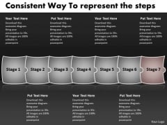 Consistent Way To Represent The Steps PowerPoint Flow Charts Templates