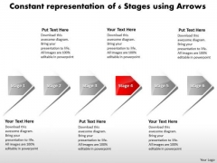 Constant Representation Of 6 Stages Using Arrows Electrical Schematic PowerPoint Slides