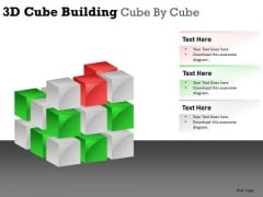 Construct 3d Cube Building PowerPoint Slides And Ppt Diagram Templates