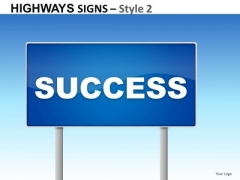Construction Highways Signs 2 PowerPoint Slides And Ppt Diagram Templates