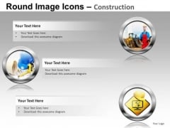 Construction Industry PowerPoint Image Icon Slides And Construction Ppt