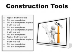 Construction Tools Industrial PowerPoint Presentation Slides F