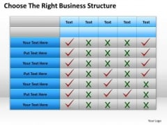 Consulting PowerPoint Template Choose The Right Business Structure Ppt Slides