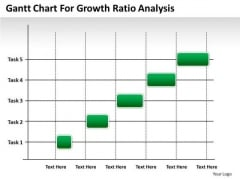 Consulting PowerPoint Template Gantt Chart For Growth Ratio Analysis Ppt Templates