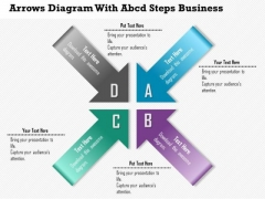 Consulting Slides Arrows Diagram With Abcd Steps Business Presentation