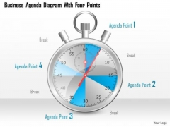 Consulting Slides Business Agenda Diagram With Four Points Business Presentation