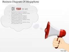 Consulting Slides Business Diagram Of Megaphone Business Presentation