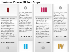 Consulting Slides Business Process Of Four Steps Business Presentation
