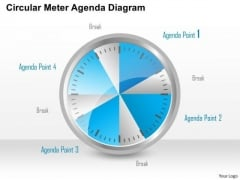 Consulting Slides Circular Meter Agenda Diagram Business Presentation