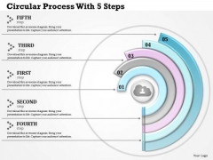 Consulting Slides Circular Process With 5 Steps Business Presentation
