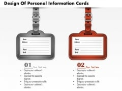 Consulting Slides Design Of Personal Information Cards Business Presentation