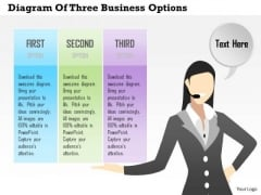 Consulting Slides Diagram Of Three Business Options Business Presentation