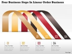 Consulting Slides Four Business Steps In Linear Order Business Presentation