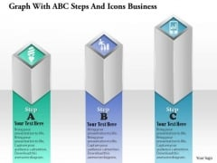 Consulting Slides Graph With Abc Steps And Icons Business Presentation