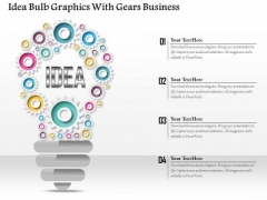 Consulting Slides Idea Bulb Graphics With Gears Business Presentation