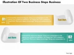 Consulting Slides Illustration Of Two Business Steps Business Presentation