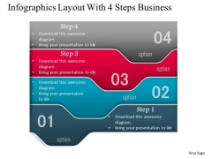 Consulting Slides Infographics Layout With 4 Steps Business Presentation