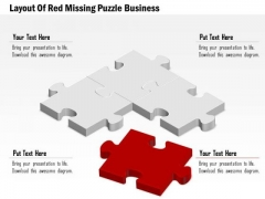 Consulting Slides Layout Of Red Missing Puzzle Business Presentation
