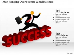 Consulting Slides Man Jumping Over Success Word Business Presentation
