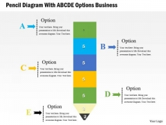 Consulting Slides Pencil Diagram With Abcde Options Business Presentation