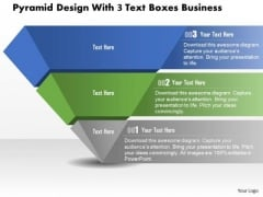 Consulting Slides Pyramid Design With 3 Text Boxes Business Presentation