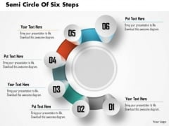 Consulting Slides Semi Circle Of Six Steps Business Presentation