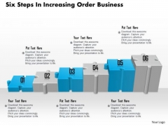 Consulting Slides Six Steps In Increasing Order Business Presentation