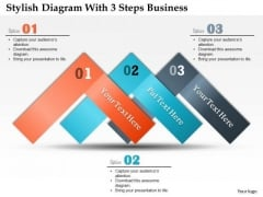 Consulting Slides Stylish Diagram With 3 Steps Business Presentation