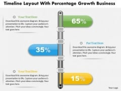 Consulting Slides Timeline Layout With Percentage Growth Business Presentation
