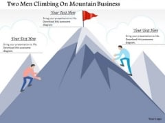 Consulting Slides Two Men Climbing On Mountain Business Presentation