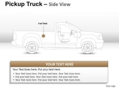 Container Pickup Brown Truck Side View PowerPoint Slides And Ppt Diagram Templates