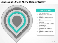 Continuous 6 Steps Aligned Concentrically Business Plan PowerPoint Templates