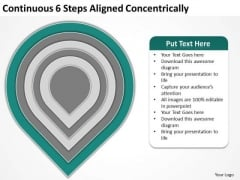 Continuous 6 Steps Aligned Concentrically Ppt Building Business Plan PowerPoint Templates