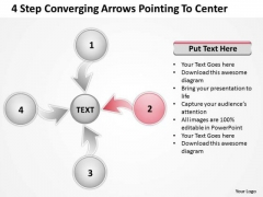 Converging Arrows Poiting To Center Relative Circular Process PowerPoint Template