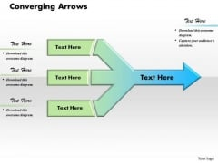 Converging Arrows PowerPoint Presentation Template