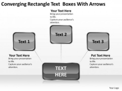 Converging Rectangle Text Boxes With Arrows Ppt Circular Flow Process PowerPoint Templates