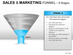 Conversion Funnel With 4 Stages PowerPoint Slides And Ppt Diagram Templates
