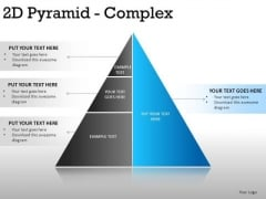 Corner 2d Pyramid Complex PowerPoint Slides And Ppt Diagram Templates