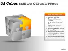 Corner Cube PowerPoint Clipart