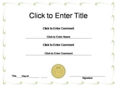 Corporate Award Certificate PowerPoint Templates