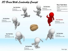 Corporate Business Strategy 3d Brain With Leadership Concept Adaptable Concepts